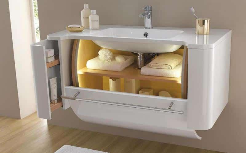 meuble salle de bain etroite