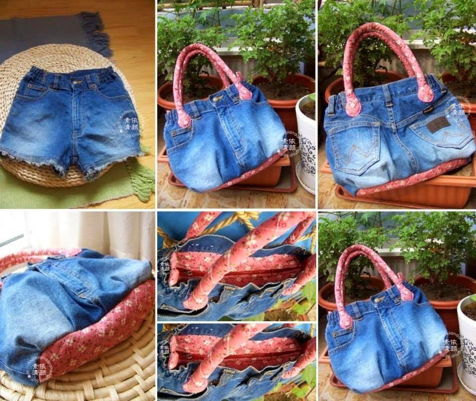 Comment recycler un vieux jeans - Comment faire un organisateur de sac ...