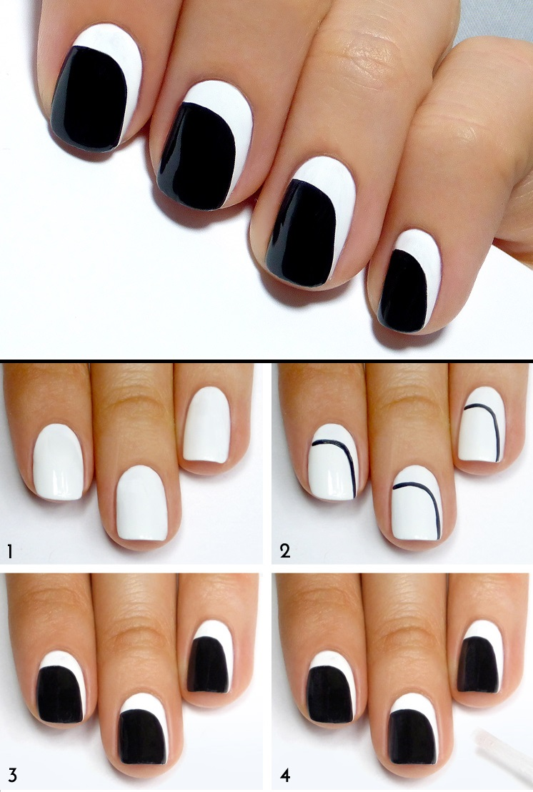 3 id es nail art pour ongles courts - Idee de vernis facile ...