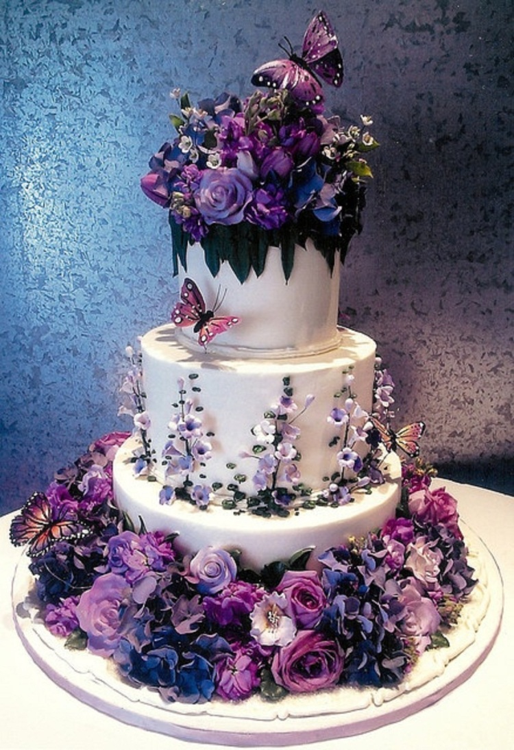 purple wedding cake images 30 g 226 teaux de mariages m 233 morables 18918