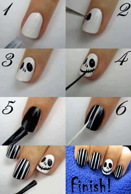 nail art halloween facile