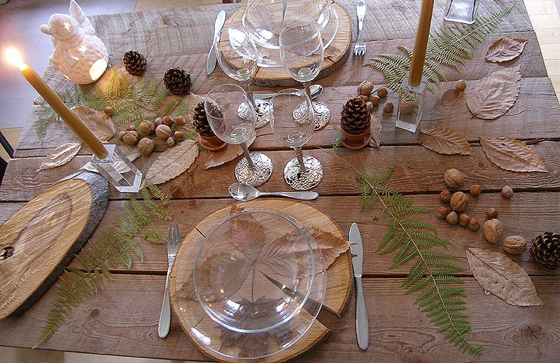 4 id es d co pour la table de no l. Black Bedroom Furniture Sets. Home Design Ideas