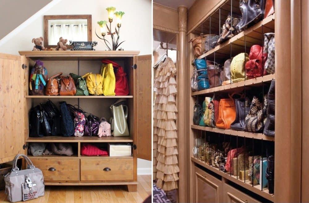 4 astuces pour ranger vos sacs main maison - Astuces de rangement maison ...
