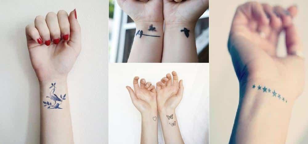 5 id es de tatouages de poignet aussi beaux que discrets - Tatouage soeur original ...