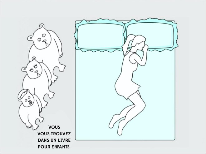 ce que dit votre position au lit de votre vie amoureuse. Black Bedroom Furniture Sets. Home Design Ideas