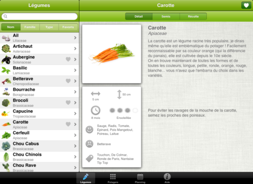 5 applications de jardinage pour android iphone et ipad for Application de construction de maison ipad