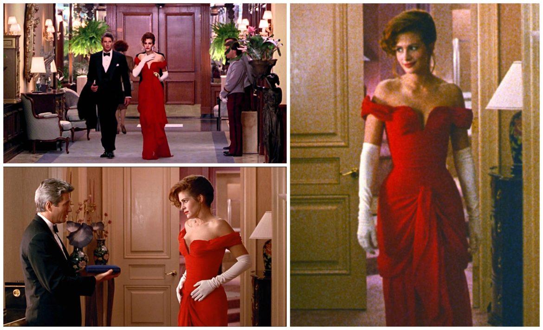 robe de soirée rouge épaule dénudée de Julia Roberts