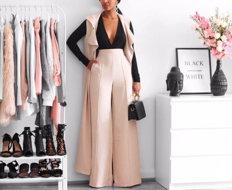 5 fa ons de porter le pantalon large un must have en 2018 mode. Black Bedroom Furniture Sets. Home Design Ideas