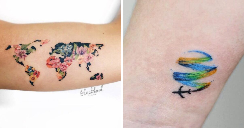 20 idées de tatouage que les amateurs de voyages vont aimer 15